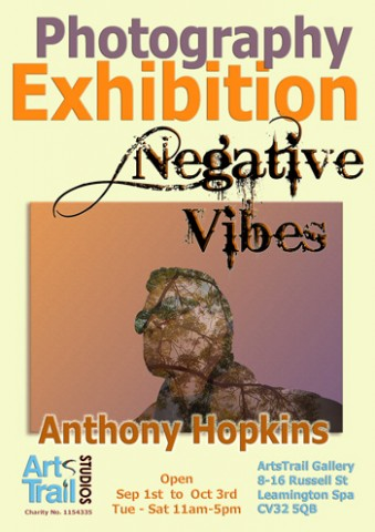 Poster for Negative Vibes exhibition